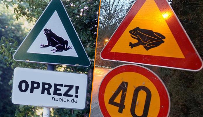 žabe na putu